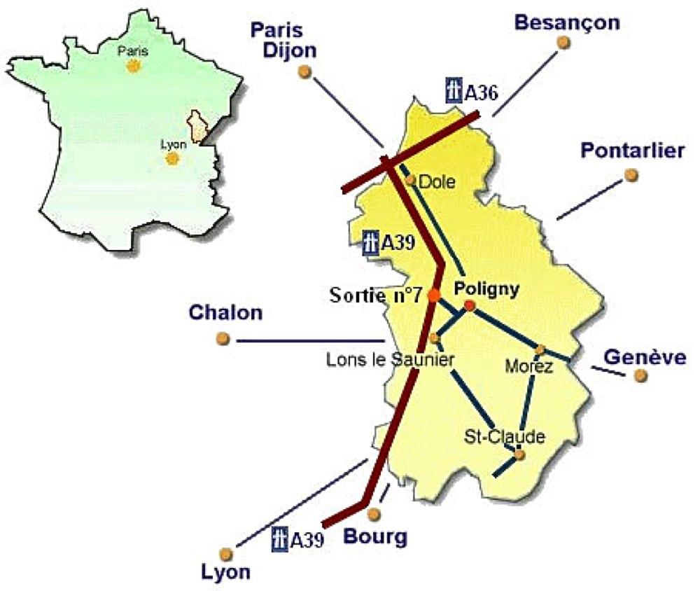 PLAN D'ACCES Poligny